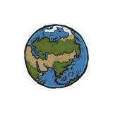 Διανυσματική απεικόνιση της γης Διανυσματική απεικόνιση