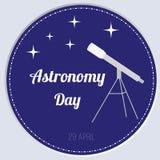 Διανυσματική απεικόνιση της ημέρας αστρονομίας Στοκ φωτογραφίες με δικαίωμα ελεύθερης χρήσης