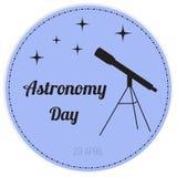 Διανυσματική απεικόνιση της ημέρας αστρονομίας Στοκ φωτογραφία με δικαίωμα ελεύθερης χρήσης