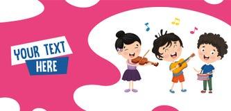 Διανυσματική απεικόνιση της μουσικής παιδιών ελεύθερη απεικόνιση δικαιώματος