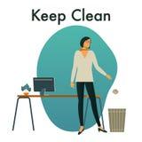 Διανυσματική απεικόνιση της συντήρησης ο εργασιακός χώρος μας καθαρός ελεύθερη απεικόνιση δικαιώματος