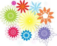 Διανυσματική απεικόνιση της συλλογής λουλουδιών Στοκ φωτογραφίες με δικαίωμα ελεύθερης χρήσης