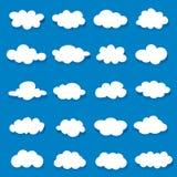 Διανυσματική απεικόνιση της συλλογής σύννεφων διανυσματική απεικόνιση