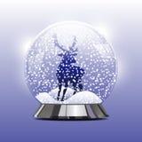 Διανυσματική απεικόνιση της σφαίρας χιονιού με Χριστούγεννα Στοκ Φωτογραφία