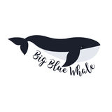 Διανυσματική απεικόνιση της φάλαινας Σχέδιο συμβόλων Στοκ Εικόνες