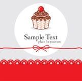 Χαριτωμένη κάρτα δώρων cupcake Στοκ φωτογραφία με δικαίωμα ελεύθερης χρήσης