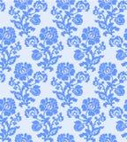 Διανυσματική απεικόνιση του άνευ ραφής αφηρημένου μπλε σχεδίου λουλουδιών Στοκ Εικόνα