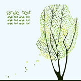Διανυσματική απεικόνιση του δέντρου Στοκ Εικόνες
