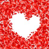 Διανυσματική απεικόνιση του αφηρημένου υποβάθρου με τα ροδαλά πέταλα Καρδιά απεικόνιση αποθεμάτων