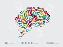 Διανυσματική απεικόνιση του εγκεφάλου απεικόνιση αποθεμάτων