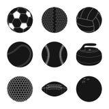 Διανυσματική απεικόνιση του εικονιδίου αθλητισμού και σφαιρών Σύνολο αθλητισμού και αθλητικού διανυσματικού εικονιδίου για το από ελεύθερη απεικόνιση δικαιώματος