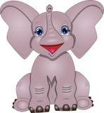 Διανυσματική απεικόνιση του ελέφαντα κινούμενων σχεδίων απεικόνιση αποθεμάτων