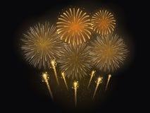 Διανυσματική απεικόνιση του εορτασμού πυροτεχνημάτων Στοκ Εικόνα