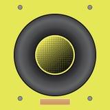 Διανυσματική απεικόνιση του κίτρινου υγιούς ομιλητή διανυσματικό eps10 Κλασικός στρογγυλός υγιής ομιλητής ελεύθερη απεικόνιση δικαιώματος