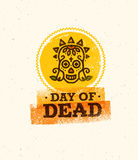 Διανυσματική απεικόνιση του κρανίου η ημέρα του θανάτου Στοκ Εικόνα