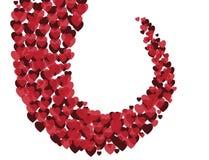 Διανυσματική απεικόνιση του κόκκινου υποβάθρου βαλεντίνων καρδιών Στοκ εικόνες με δικαίωμα ελεύθερης χρήσης
