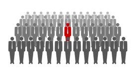 Διανυσματική απεικόνιση του κόκκινου διαβόλου στο πλήθος Στοκ φωτογραφία με δικαίωμα ελεύθερης χρήσης