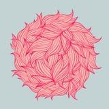 Διανυσματική απεικόνιση του κύκλου φιαγμένη από φύλλα Στοκ Εικόνες