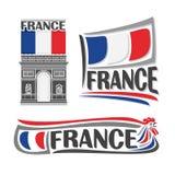 Διανυσματική απεικόνιση του λογότυπου για τη Γαλλία Στοκ Φωτογραφίες