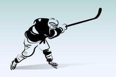 Διανυσματική απεικόνιση του παίκτη χόκεϋ Στοκ εικόνα με δικαίωμα ελεύθερης χρήσης