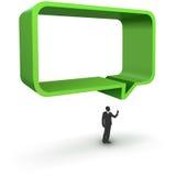 Διανυσματική απεικόνιση του πράσινου πλαισίου διαλόγου Στοκ Εικόνες