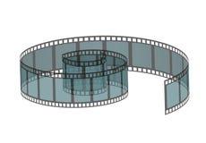 Διανυσματική απεικόνιση του ρεαλιστικού ρόλου filmstrip Κινηματογράφος και στοιχείο ή αντικείμενο κινηματογράφων Στοκ φωτογραφίες με δικαίωμα ελεύθερης χρήσης