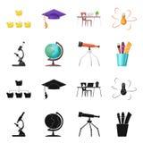 Διανυσματική απεικόνιση του σημαδιού εκπαίδευσης και εκμάθησης Συλλογή της εκπαίδευσης και του σχολικού διανυσματικού εικονιδίου  ελεύθερη απεικόνιση δικαιώματος