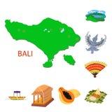 Διανυσματική απεικόνιση του συμβόλου του Μπαλί και της Ινδονησίας Σύνολο Μπαλί και καραϊβικού διανυσματικού εικονιδίου για το από απεικόνιση αποθεμάτων
