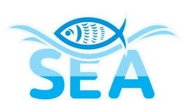 Σύμβολο θάλασσας και ψαριών Στοκ εικόνα με δικαίωμα ελεύθερης χρήσης