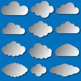 Διανυσματική απεικόνιση του συνόλου σύννεφων Διανυσματική απεικόνιση