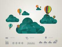 Διανυσματική απεικόνιση του σύννεφου ελεύθερη απεικόνιση δικαιώματος