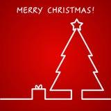 Διανυσματική απεικόνιση του υποβάθρου περιλήψεων Χριστουγέννων για το σχέδιο, Στοκ εικόνα με δικαίωμα ελεύθερης χρήσης