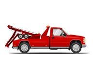 Διανυσματική απεικόνιση του φορτηγού ρυμούλκησης Στοκ Εικόνες