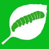 Διανυσματική απεικόνιση του φύλλου στο πράσινο υπόβαθρο Στοκ Εικόνα