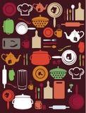 Χαριτωμένο σχέδιο κουζινών Στοκ Εικόνα
