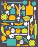 Χαριτωμένο σχέδιο κουζινών Στοκ φωτογραφίες με δικαίωμα ελεύθερης χρήσης