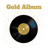 Διανυσματική απεικόνιση του χρυσού βινυλίου δίσκου μετάλλων Στοκ φωτογραφία με δικαίωμα ελεύθερης χρήσης