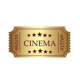 Διανυσματική απεικόνιση του χρυσού εισιτηρίου Στοκ εικόνα με δικαίωμα ελεύθερης χρήσης