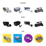 Διανυσματική απεικόνιση του camcorder και του εικονιδίου καμερών Συλλογή του συμβόλου αποθεμάτων camcorder και ταμπλό για τον Ιστ απεικόνιση αποθεμάτων