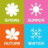 Διανυσματική απεικόνιση του Four Seasons Διανυσματική απεικόνιση