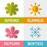 Διανυσματική απεικόνιση του Four Seasons Στοκ εικόνα με δικαίωμα ελεύθερης χρήσης