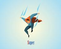 Διανυσματική απεικόνιση του superhero επιχειρηματιών Στοκ Εικόνα