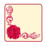 Διανυσματική απεικόνιση τριαντάφυλλων και διακοσμήσεων επαγγελματικών καρτών κουμπιών Στοκ Φωτογραφίες