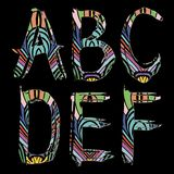 Διανυσματική απεικόνιση τυπογραφίας πηγών Abc που τίθεται με το grunge doodle απεικόνιση αποθεμάτων