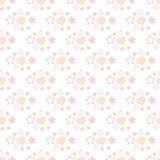 Διανυσματική απεικόνιση των άνευ ραφής καρδιών και των αστεριών σχεδίων Στοκ φωτογραφίες με δικαίωμα ελεύθερης χρήσης