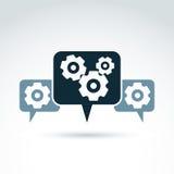 Διανυσματική απεικόνιση των εργαλείων - θέμα επιχειρηματικών συστημάτων, organiza Στοκ Εικόνες