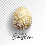 Διανυσματική απεικόνιση των ευτυχών διακοπών Πάσχας με το χρωματισμένο αυγό στο διαφανές υπόβαθρο Διεθνές σχέδιο εορτασμού Στοκ φωτογραφία με δικαίωμα ελεύθερης χρήσης