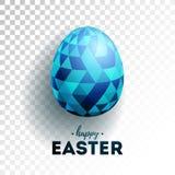 Διανυσματική απεικόνιση των ευτυχών διακοπών Πάσχας με το χρωματισμένο αυγό στο διαφανές υπόβαθρο Διεθνές σχέδιο εορτασμού Στοκ εικόνες με δικαίωμα ελεύθερης χρήσης