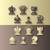Διανυσματική απεικόνιση των κομματιών σκακιού Στοκ Φωτογραφία