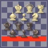 Διανυσματική απεικόνιση των κομματιών σκακιού Στοκ εικόνα με δικαίωμα ελεύθερης χρήσης